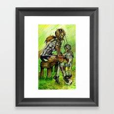 Zombie Soccer Mom Framed Art Print