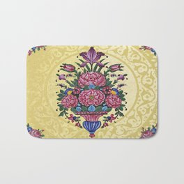 Floral Persian Tile (yellow) Bath Mat
