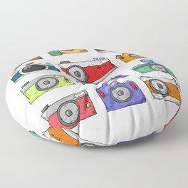 Retro Camera PNG Floor Pillow