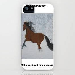 Horse in the snow iPhone Case