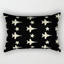 F-18 Hornet Fighter Jet Pattern Rectangular Pillow