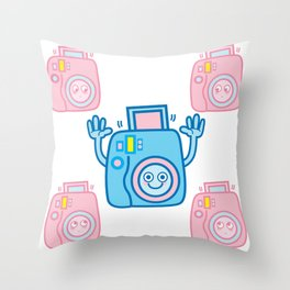 We are watching you. Say Cheese!!! Throw Pillow