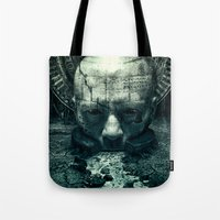 prometheus Tote Bags featuring Prometheus by dracorubio