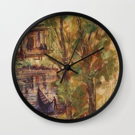 Temple in the Deep Forest in my village Wall Clock
