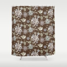 MICHIGAN LACE BROWN WKS Shower Curtain