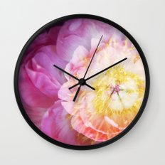 Peony Abstractions Wall Clock