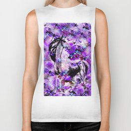HORSE ROSES DRAGONFLY IMPRESSIONS Biker Tank