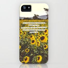 Jeremiah Sunflowers iPhone Case