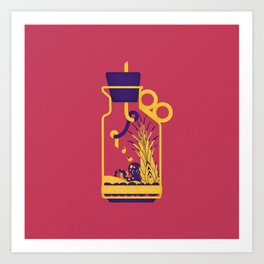 "poster : bottle 1 ""biberon de sel"" Art Print"