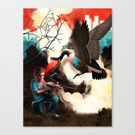 Suburban Soldier Canvas Print