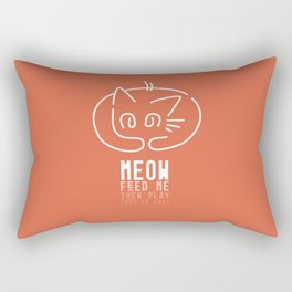 meow, then go away Rectangular Pillow
