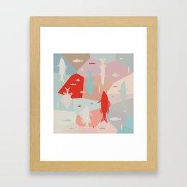 California Pastel Fish Framed Art Print