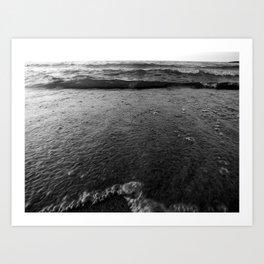 Slow walk,A deep crisp vision….not sex on a beach,its sex with the beach Art Print