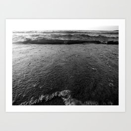 Slow walk,A deep crisp vision….not sex on a beach,its sex with the beach Art Print