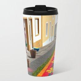 Making flower carpets Travel Mug