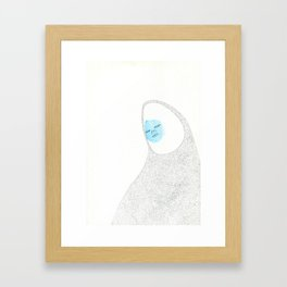 Amatista with her face coloured Framed Art Print
