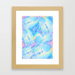 Blue Gemstone Framed Art Print