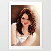 emma stone Art Prints featuring Emma Stone by Chanuka Hemachandra
