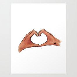 Valentine Hands Art Print