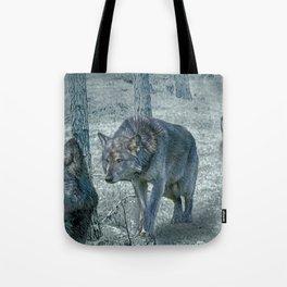 Wolf Trio Tote Bag
