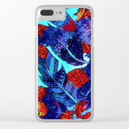 Burning Feathers Clear iPhone Case