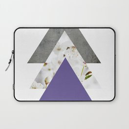 Ultra Violet Blossoms Arrows Laptop Sleeve