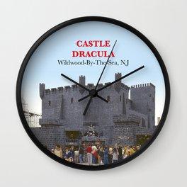 Castle Dracula on the Boardwalk in Wildwood, New Jersey Wall Clock