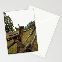 wooden fence in the Rockies Stationery Cards
