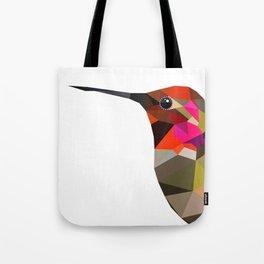 Pink hummingbird portrait Tote Bag
