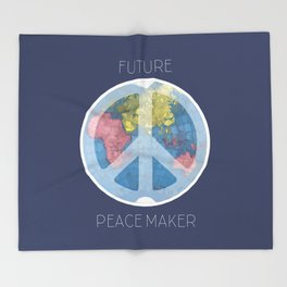 Future Peace Maker Throw Blanket