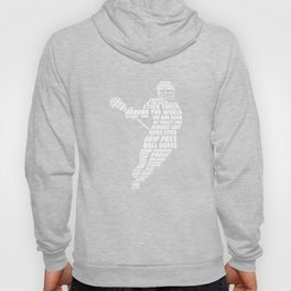 Men's Lacrosse Figure Funny Graphic T-shirt XL Navy Hoody