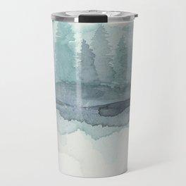 Pines in the Morning Mist Travel Mug