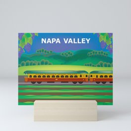 Napa Valley, California - Skyline Illustration by Loose Petals Mini Art Print