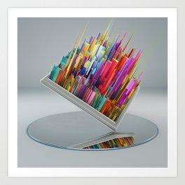 El espejo Art Print