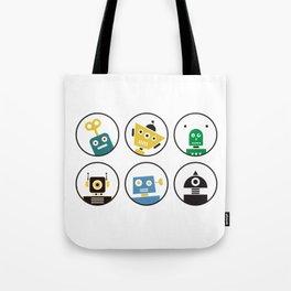 Robot Friends Tote Bag