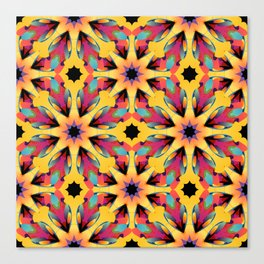 Colorful seamless pattern with free shape Canvas Print