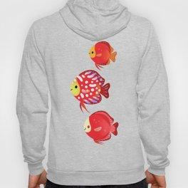 Red discus Hoody