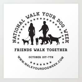 Friends Walk Together Art Print