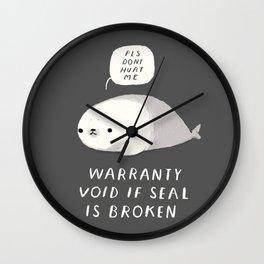 warranty void if seal is broken Wall Clock
