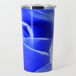 Blue Rose Travel Mug