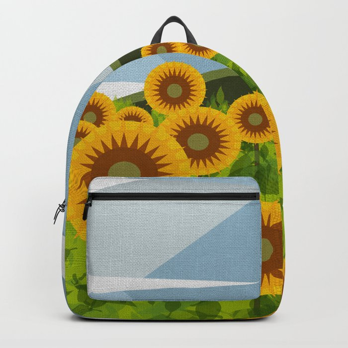 SUNFLOWERS (geometric flowers abstract) Backpack