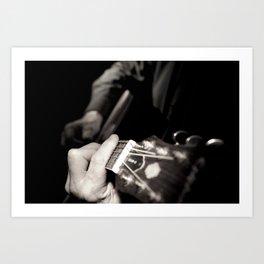 Playing the guitar Art Print