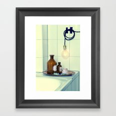 Bathroom set  Framed Art Print
