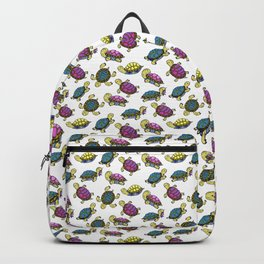 Colorful small turtles Backpack