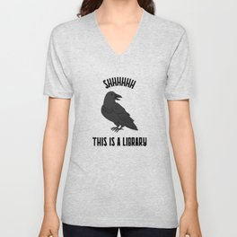 Shhhhhh This is a Library Unisex V-Neck