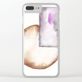 180914 Minimalist Geometric Watercolor 8 Clear iPhone Case