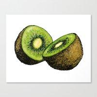 kiwi Canvas Prints featuring Kiwi by Sara Soto