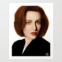 scully Art Prints featuring Scully by Alexia Rose