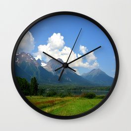 Kathlyn Lake and Hudson Bay Mountain Wall Clock