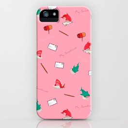 Pink Shark and Whale Shark iPhone Case